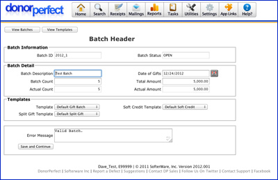 how to create a batch record