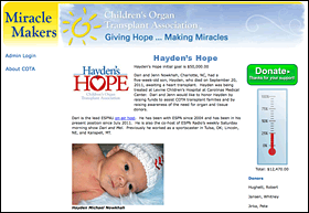 Hayden House Fundraising Page Example