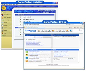 DonorPerfect Fundraising Software Screenshot