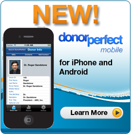 New! DonorPerfect Mobile for iPhone and Android