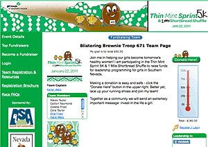girl scouts DonorPages