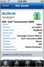 iPhone Donation Detail View