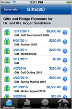 iPhone Donation Summary View