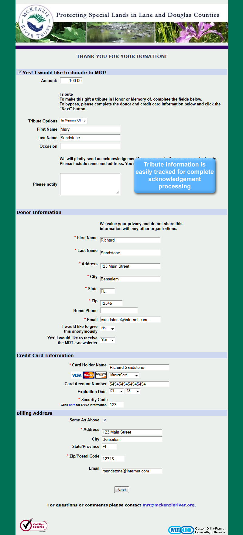 online donation page samples other examples of weblink view sample form